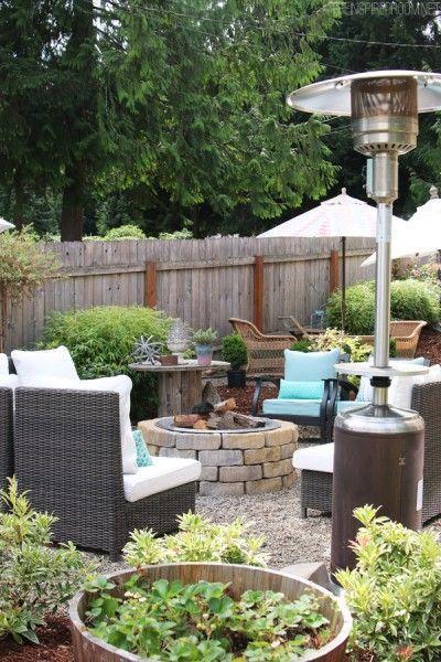 Meine Hinterhof Tour Pea Gravel Patios Flagstone Secret Garden Hinterhof Gartengestaltung Kiesterrasse
