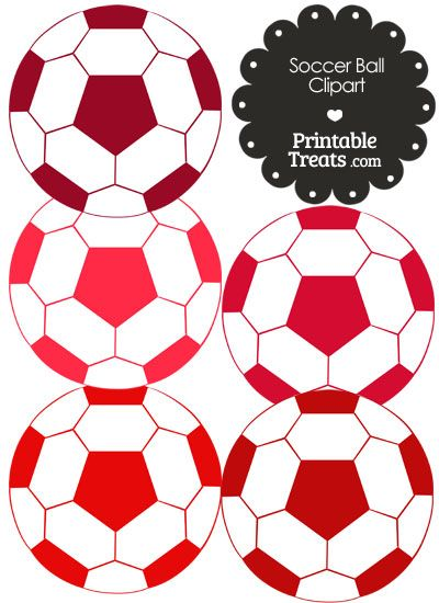 Soccer Ball Clipart In Shades Of Red Printable Treats Com Soccer Ball Soccer Shades Of Red
