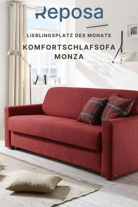 Unser Lieblingsplatz im Oktober ist Monza. Ein elegantes Schlafsofa auf dem es sich nicht nur bequem sitzen, sondern auch sehr komfortabel schlafen lässt.
