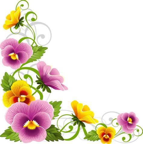 Image Result For Pansy Flower Border Free Art Prints Flower Border Clip Art Borders