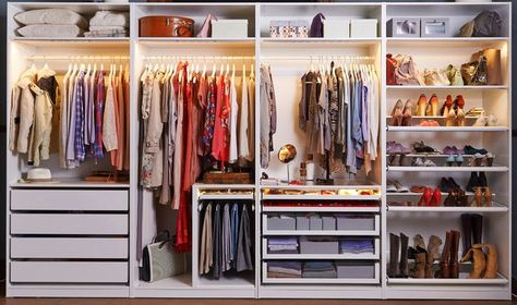 Ankleidezimmer ikea  Walk-In Closet Sneak Peek   Ikea pax wardrobe, Crystalin marie and ...