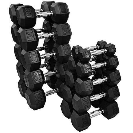 CAP Rubber Coated Hex Dumbbell 40 lb Weight Lifting Training Home Workout Single