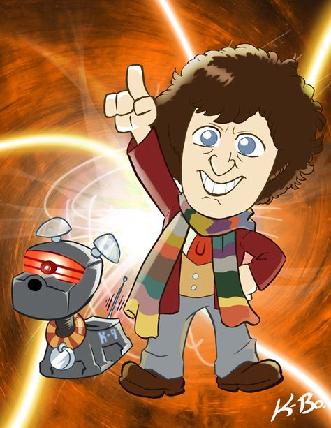 4th Doctor Who Tom Baker by *kevinbolk on deviantART