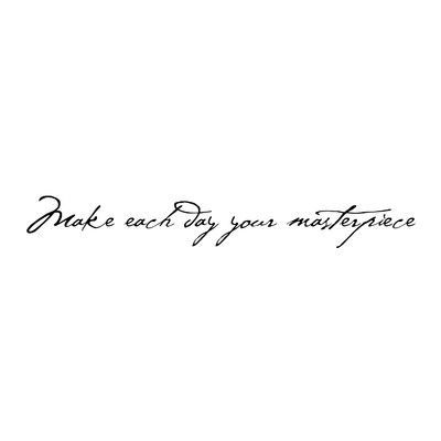 FiresideHome Make Each Day Your Masterpiece Wall Decal Color: Black