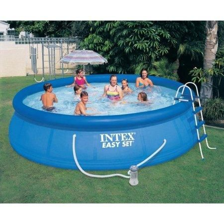 15 x 42 Above-Ground Easy Setup Outdoor Swimming Pool Set w ...