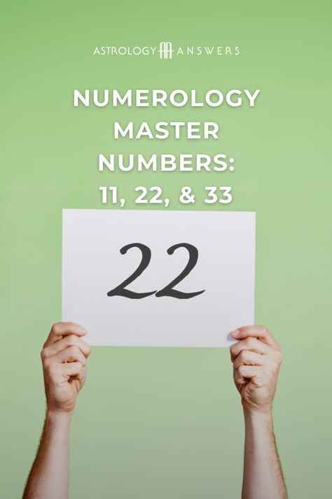 Want to know all about the master numbers? Let's explore all three of these powerful life paths. #numerology #masternumbers #lifepathnumbers