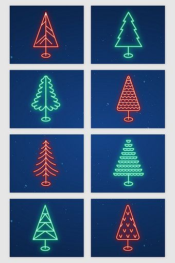 Christmas Tree Neon Light Effect Vector Png Images Ai Free Download Pikbest Neon Neon Lighting Christmas Tree