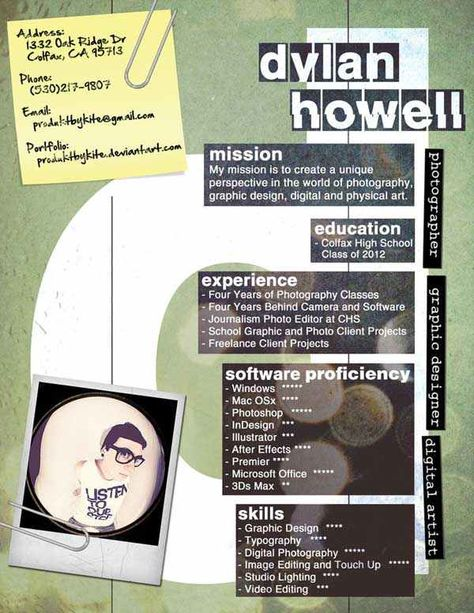 60 More (fresh) Artistic and Unusual Resume Designs for Your - resume software mac