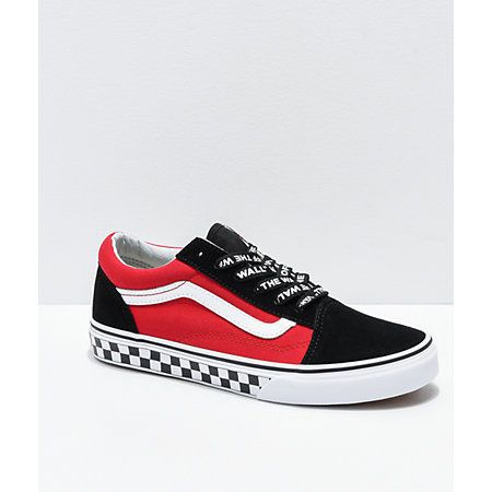 Vans Old Skool Logo Pop Red Skate Shoes Zumiez Mens Vans Shoes Womens Shoes Wedges Leather Shoes Woman