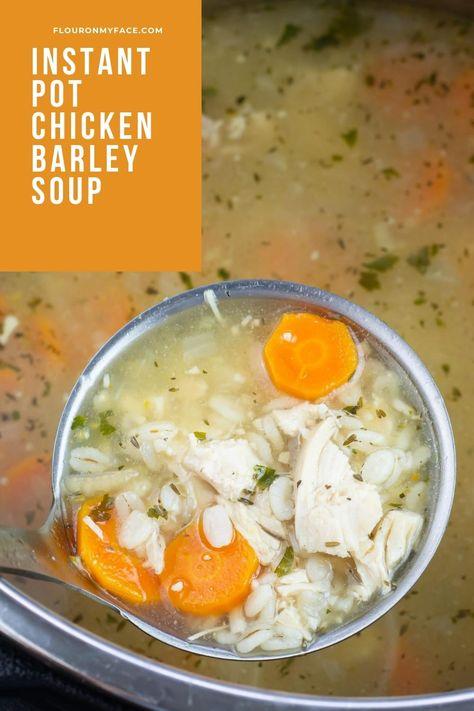 Instant Pot Chicken Barley Soup