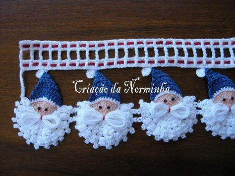 Santa Claus Edging (crochet tutorial)