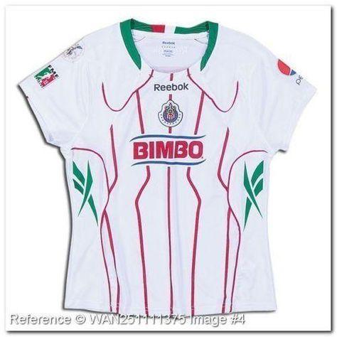 43e644e9642 REEBOK CHIVAS DEL GUADALAJARA WOMENS AWAY JERSEY 2010 11 COMMEMORATIVE  BICENTENARIO 2010 Viva Chivas! Show your support for the most successful  team in ...