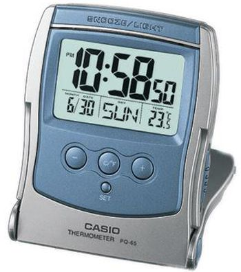 Casio Digital Alarm Clock Aqua Blue