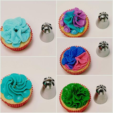 Queen of Cakes 10 Nozzles Piping Bag Cake Decorating Multi Shapes Icing Baking