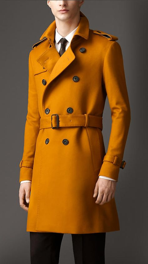 Mid-Length Cashmere Trench Coat | Burberry