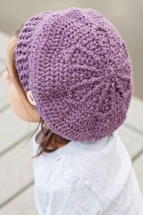 PDF, Crochet Beret Pattern, Beret, Crochet Hat Pattern, Baby Beret ...