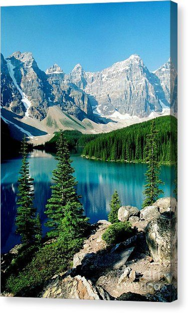 Moraine Lake Canvas Print by Frank Townsley