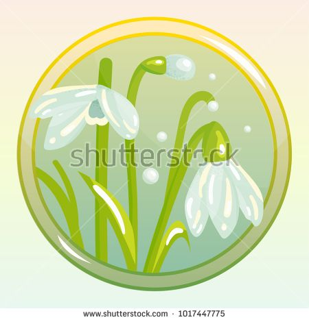 Vector Icon With Snowdrop Flower Perfect For Game And App Icons Devoted To Floral Topic
