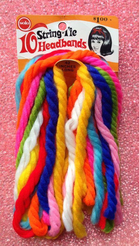 Solo String-Tie Headband, I Remember :)