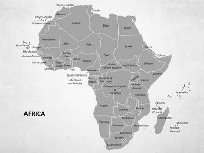 free africa map for powerpoint presentation