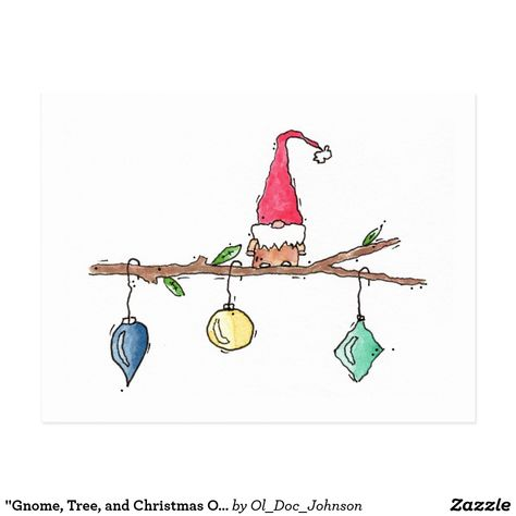 Get your hands on a customizable Christmas postcard from Zazzle. Find a large selection of sizes and shapes for your postcard needs! Christmas Doodles, Diy Christmas Cards, Xmas Cards, Holiday Crafts, Christmas Postcards, Christmas Ornaments, Watercolor Christmas Cards, Christmas Drawing, Christmas Paintings