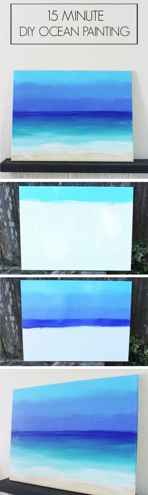 Check out the tutorial on how to make a DIY ocean view painting in 15 minutes (great for summer decor) @istandarddesign