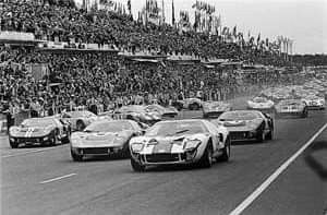 1966 24 Hours Le Mans Start 1 Dan Gurney Jerry Grant Ford Mk Ii 3 Shelby American Inc 2 Ken Miles Denny Hulme Ford Mk Ii Le Mans Ford Gt Ford Gt40