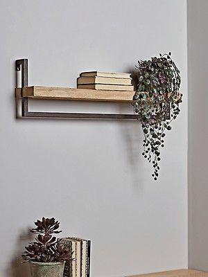 Wood Metal Shelf In 2020 Metal Shelves Shelves Wall Shelf Decor