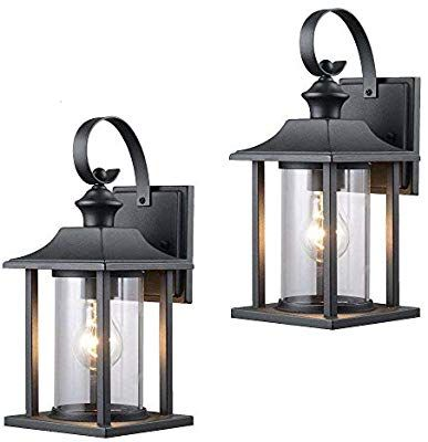 Twin Pack Designers Impressions 73478 Black Outdoor Patio Porch