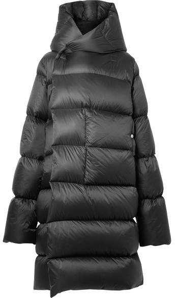8829d3096 Rick Owens - Oversized Hooded Quilted Shell Down Coat - Black ...