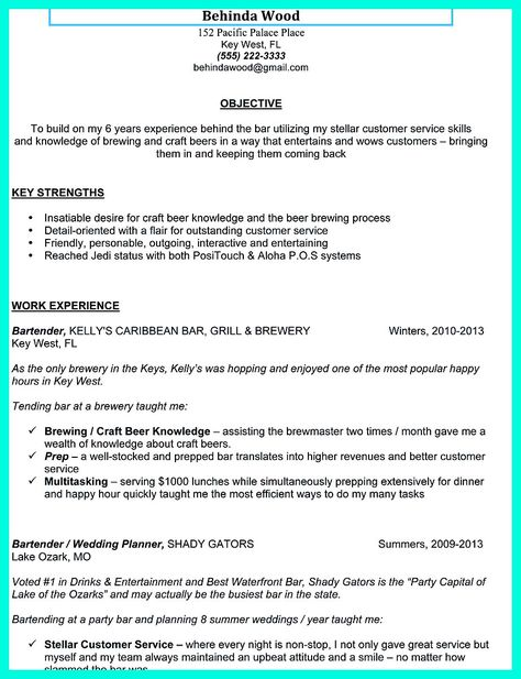 Bartender skills resume Essay on patriot act - Bartender Skills Resume
