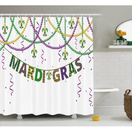 Mardi Gras Shower Curtain Festive Decorations With Fleur De Lis