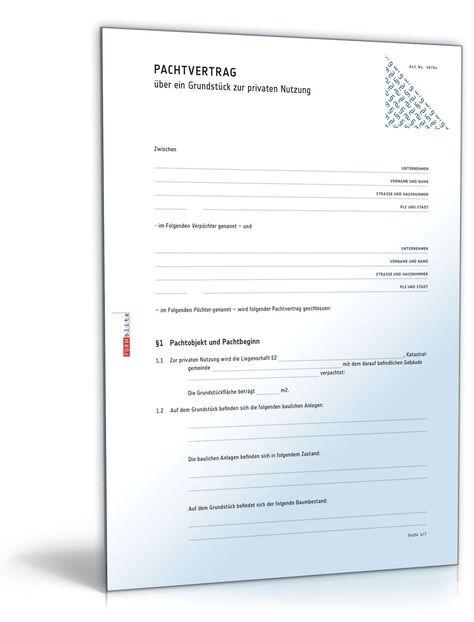 Pachtvertrag. Muster pachtvertrag restaurant. Angaben zum.