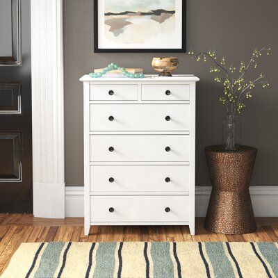 Downey 5 Drawer Chest Color White Tall Dresser Decor 5 Drawer Chest Furniture