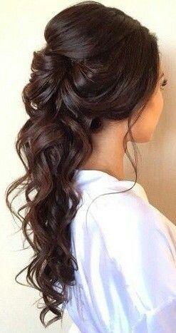 Half up half down curly hair #gorgeoushair