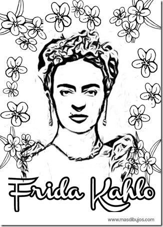 Kahlo Colorear Ee Frida Kahlo Dibujos Y Frida