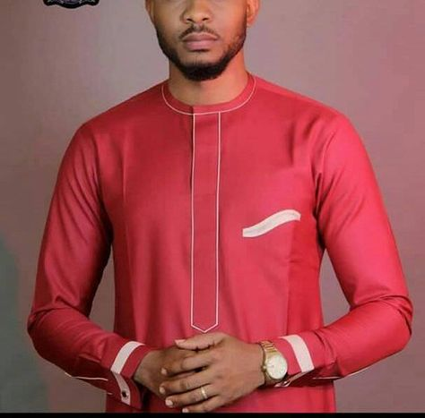 Red African Mens Wear for Wedding