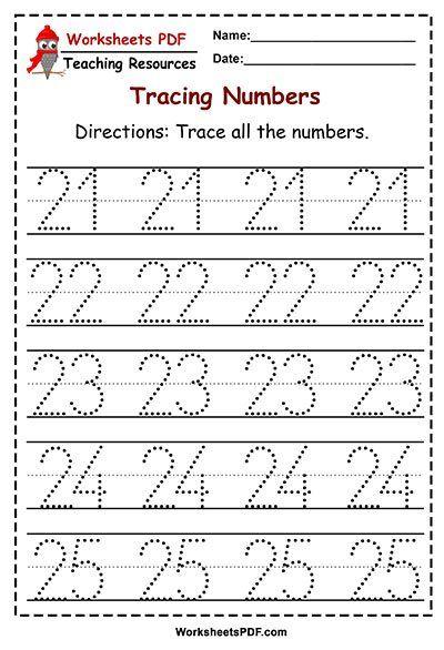 Numbers 1 50 Tracing Worksheets Worksheets Pdf Tracing Worksheets Preschool Kids Math Worksheets Tracing Worksheets Worksheets for preschool pdf