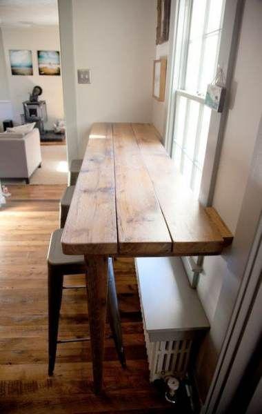 Breakfast Bar Against Wall Chairs 49 Ideas Kitchen Bar Table Home Decor Home