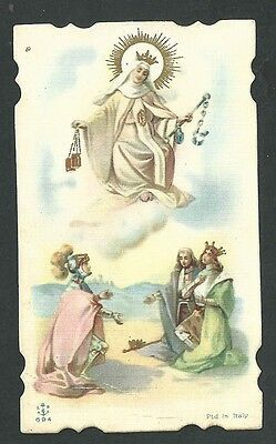 Estampa Antigua Virgen De Fatima Andachtsbild Santino Holy Card