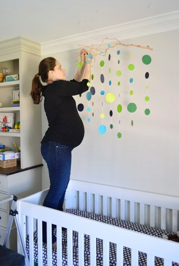 In LOVE with this mobile! Wanna See A Pregnant Lady In A Crib? | Young House Love