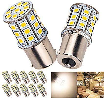 Amazon Com 10 X Super Bright Ba15s 1156 1141 1003 Rv Interior White Light Led Bulbs Camper Trailer Turn Signal B In 2020 Led Bulb Led Lights Flexible Led Strip Lights
