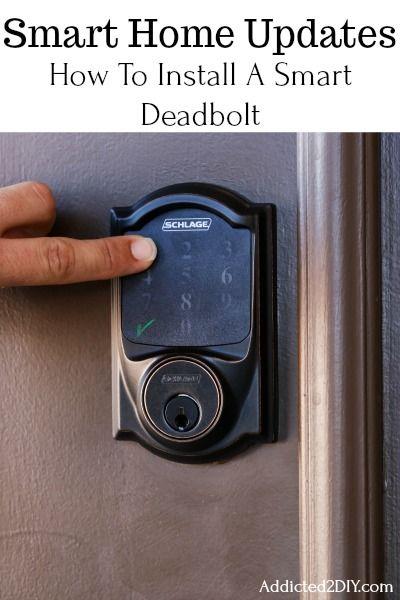 Smart Home Updates How To Install A Smart Door Lock Smart Door Locks Smart Home Locks Door Locks