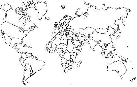 World Map To Color In 2020 Color World Map World Map Coloring