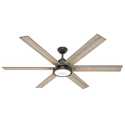 70 inch ceiling fan oversized hunter 70inch noble bronze led ceiling fan with light and wall control 59397 destination lighting