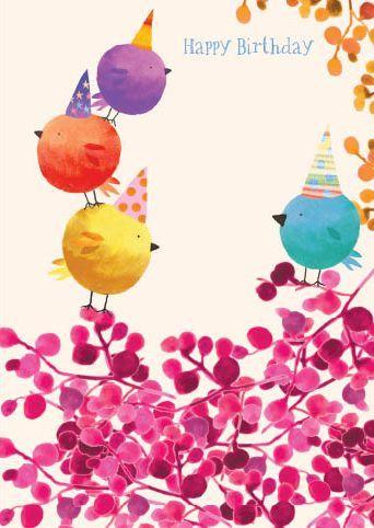 Artist Skye Rogers Range Tweeters Greeting Card Range Published By Paper Rose Uk Finis Happy Birthday Cards Happy Birthday Art Happy Birthday Greetings
