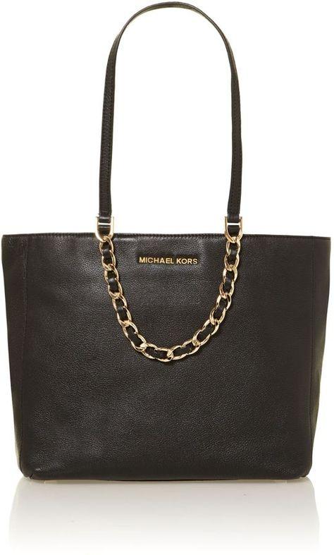 3d6afb777997 Michael Kors Harper black tote bag on shopstyle.com   My World Of ...