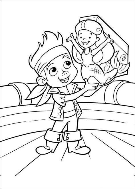jake und die nimmerland piraten 13 ausmalbilder für kinder