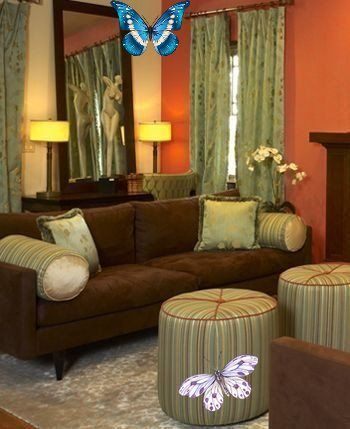 Golden Brown Brown Curtains For Living Room
