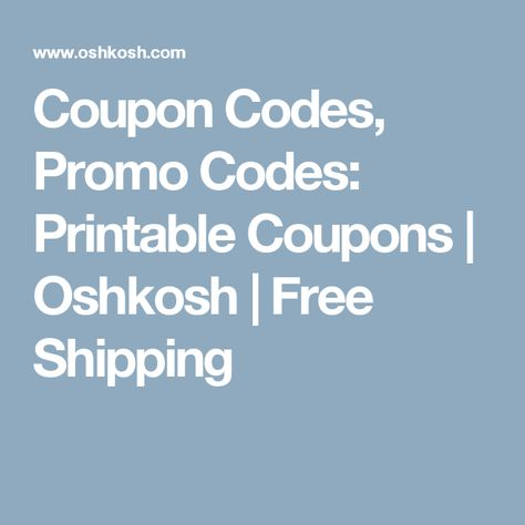 picture regarding Oshkosh Printable Coupon named Pinterest - España